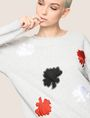 ARMANI EXCHANGE LOTUS APPLIQUE SWEATSHIRT TOP Fleece Top Woman a