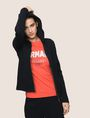 ARMANI EXCHANGE TONAL EMBROIDERY ZIP-UP HOODIE Fleece Jacket Woman a