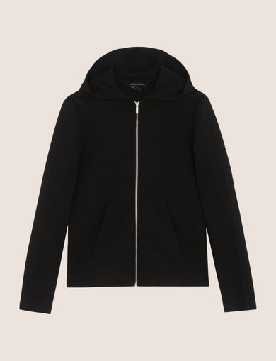 TONAL EMBROIDERY ZIP-UP HOODIE