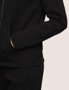 ARMANI EXCHANGE TONAL EMBROIDERY ZIP-UP HOODIE Fleece Jacket Woman b