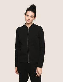 ARMANI EXCHANGE TONAL EMBROIDERY ZIP-UP HOODIE Fleece Jacket Woman f
