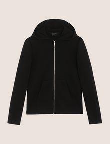 ARMANI EXCHANGE TONAL EMBROIDERY ZIP-UP HOODIE Fleece Jacket Woman r