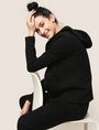 ARMANI EXCHANGE TONAL EMBROIDERY ZIP-UP HOODIE Fleece Jacket Woman a