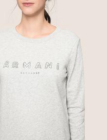 ARMANI EXCHANGE RHINESTONE LOGO SWEATSHIRT TOP Fleece Top Woman b