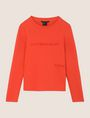 ARMANI EXCHANGE EMBROIDERED CURSIVE SWEATSHIRT TOP Fleece Top Woman r