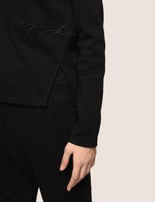 ARMANI EXCHANGE EMBROIDERED CURSIVE SWEATSHIRT TOP Fleece Top Woman b