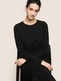 ARMANI EXCHANGE EMBROIDERED CURSIVE SWEATSHIRT TOP Fleece Top Woman a