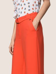 ARMANI EXCHANGE HIGH-RISE WIDE-LEG TROUSER Pant [*** pickupInStoreShipping_info ***] b