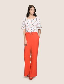 ARMANI EXCHANGE HIGH-RISE WIDE-LEG TROUSER Pant [*** pickupInStoreShipping_info ***] d