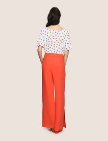 ARMANI EXCHANGE HIGH-RISE WIDE-LEG TROUSER Pant [*** pickupInStoreShipping_info ***] e