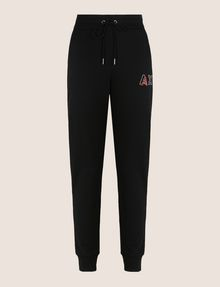 ARMANI EXCHANGE RHINESTONE LOGO SWEATPANTS Fleece Pant Woman r