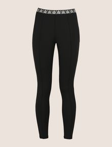 ARMANI EXCHANGE LOGO ELASTIC LEGGING Fleece Trouser Woman r