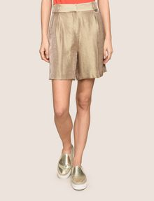 ARMANI EXCHANGE PLEATED METALLIC TROUSER SHORTS Short Woman f