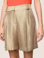 ARMANI EXCHANGE PLEATED METALLIC TROUSER SHORTS Short Woman b