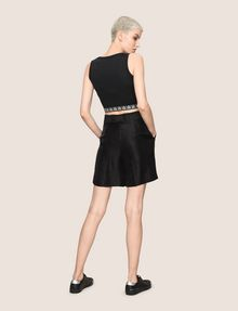 ARMANI EXCHANGE PLEATED METALLIC TROUSER SHORTS Short Woman e