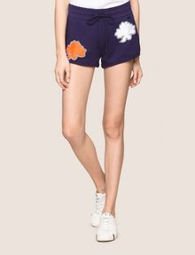 ARMANI EXCHANGE LOTUS APPLIQUE SWEATSHORTS Fleece Short Woman f