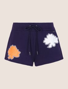 ARMANI EXCHANGE LOTUS APPLIQUE SWEATSHORTS Fleece Short [*** pickupInStoreShipping_info ***] r