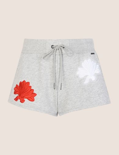 LOTUS APPLIQUE SWEATSHORTS