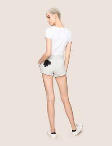 ARMANI EXCHANGE LOTUS APPLIQUE SWEATSHORTS Fleece Short Woman e