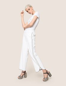 ARMANI EXCHANGE CONTRAST PIPING CURVED-HEM PANTS Trouser Woman a