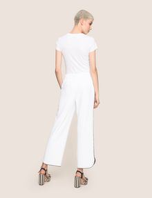 ARMANI EXCHANGE CONTRAST PIPING CURVED-HEM PANTS Trouser Woman e