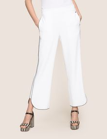 ARMANI EXCHANGE CONTRAST PIPING CURVED-HEM PANTS Pant Woman f