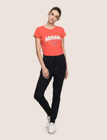 ARMANI EXCHANGE TONAL EMBROIDERY SWEATPANTS Fleece Trouser Woman d