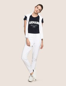 ARMANI EXCHANGE TONAL EMBROIDERY SWEATPANTS Fleece Pant Woman d