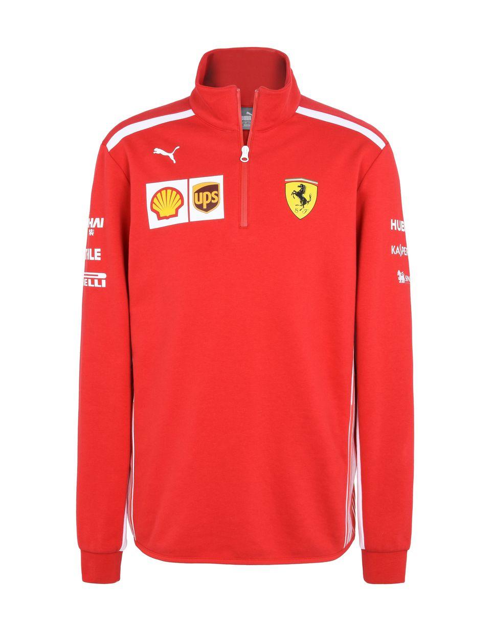 Scuderia Ferrari Online Store - Replica Scuderia Ferrari 2018 microfibre sweatshirt - H-Zip Jumpers