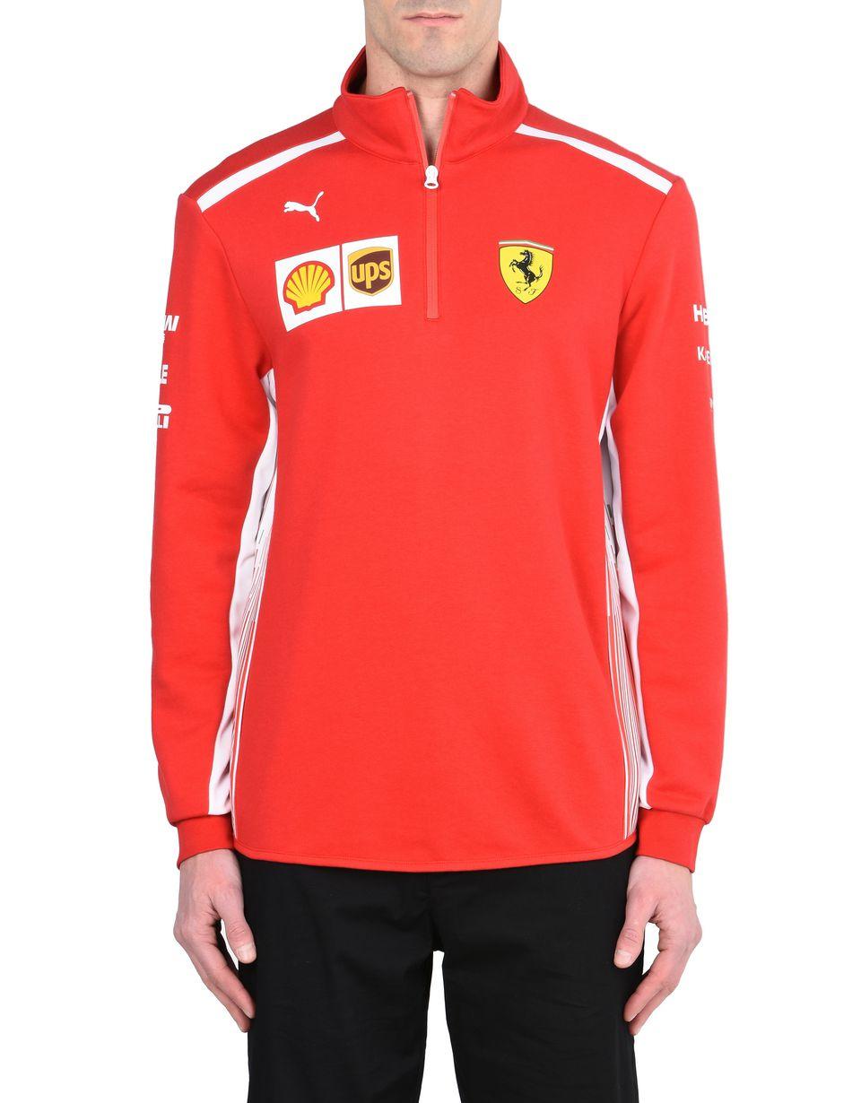 Scuderia Ferrari Online Store - Felpa in microfibra Scuderia Ferrari Replica 2018 - Maglioni con Mezza Zip