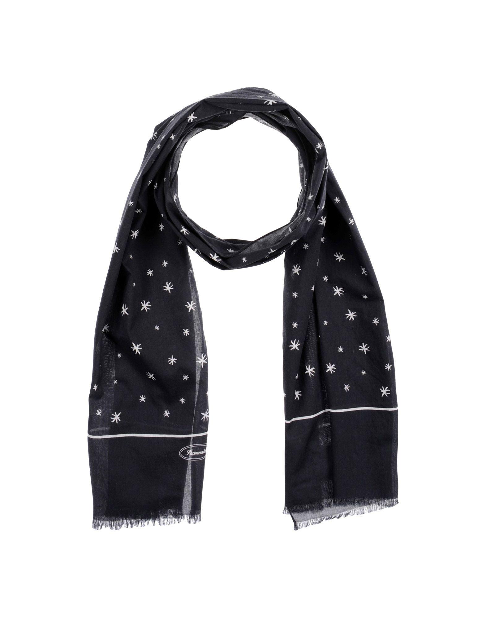 FAÇONNABLE Scarves in Black