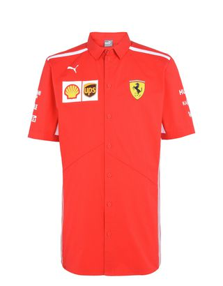 Scuderia Ferrari Online Store - Camicia Scuderia Ferrari Replica 2018 - Camicie a Maniche Corte