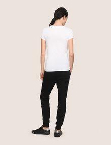 ARMANI EXCHANGE GLITTER SCRIPT TEE Logo T-shirt Woman e
