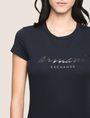 ARMANI EXCHANGE GLITTER SCRIPT TEE Logo T-shirt Woman b
