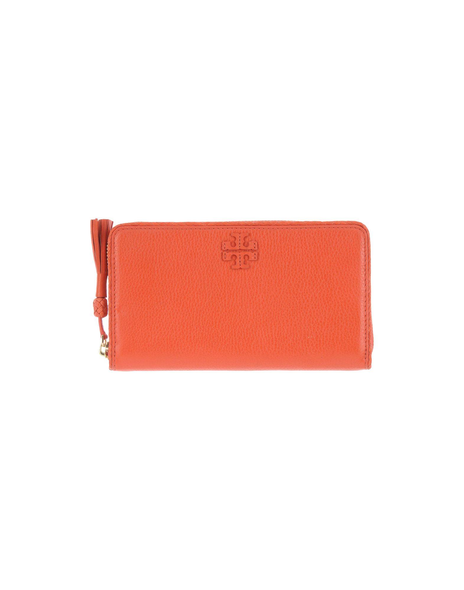 《送料無料》TORY BURCH レディース 財布 オレンジ 革