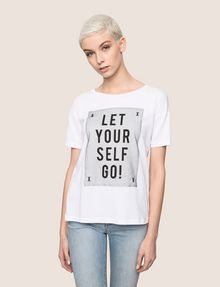 ARMANI EXCHANGE LET YOURSELF GO TEE Logo T-shirt Woman f