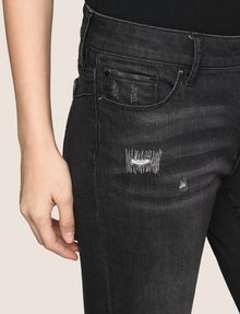 ARMANI EXCHANGE SUPER-SKINNY CONTRAST REPAIR JEANS Skinny jeans Woman b