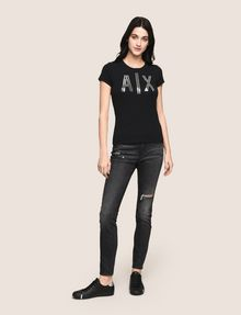 ARMANI EXCHANGE SUPER-SKINNY CONTRAST REPAIR JEANS Skinny jeans Woman d