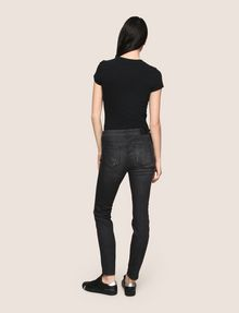 ARMANI EXCHANGE SUPER-SKINNY CONTRAST REPAIR JEANS Skinny jeans Woman e