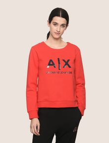 ARMANI EXCHANGE SHINE PRINT SWEATSHIRT TOP Fleece Top Woman f