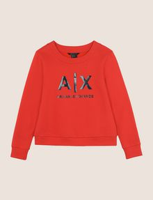 ARMANI EXCHANGE SHINE PRINT SWEATSHIRT TOP Fleece Top Woman r