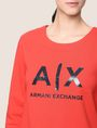 ARMANI EXCHANGE SHINE PRINT SWEATSHIRT TOP Fleece Top Woman b