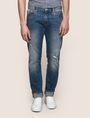 ARMANI EXCHANGE DESTROYED AND REPAIRED MID-INDIGO STRAIGHT JEANS STRAIGHT FIT JEANS Man f