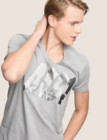ARMANI EXCHANGE DOUBLE VISION FOIL TEE Logo T-shirt Man a