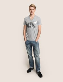 ARMANI EXCHANGE DOUBLE VISION FOIL TEE Logo T-shirt Man d