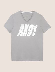 ARMANI EXCHANGE DOUBLE VISION FOIL TEE Logo T-shirt Man r