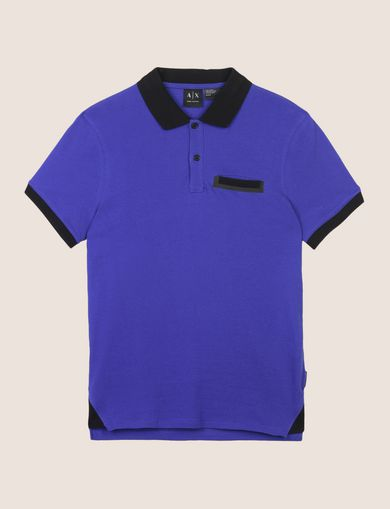 CONTRAST TIPPING CIRCLE LOGO POLO