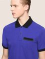 ARMANI EXCHANGE CONTRAST TIPPING CIRCLE LOGO POLO SHORT SLEEVES POLO Man b