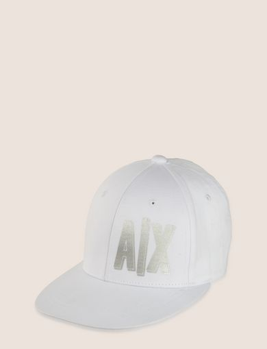METALLIC PLACED PRINT HAT