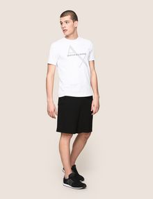 ARMANI EXCHANGE CIRCLE LOGO COLORBLOCK SWEATSHORTS Shorts Man d